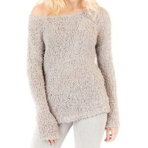 Vince Open Knit Taupe Sweater Sz S